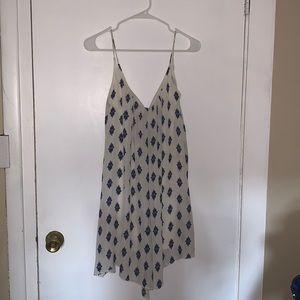 Zara Blue & White Paisley Dress